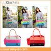 pet supplier colorful satchel pet carrier bag dog bag