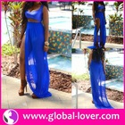 High top quality sexy royal blue plus size cocktail dress