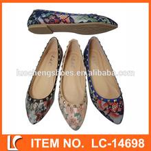 2015 nueva llegada de moda ballet pointe zapatos de la señora