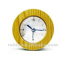 new small round gift wooden table clock