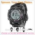De regalo al por mayor multi- función de cuero reloj deportivo, spovan dispositivo al aire libre con la previsión del tiempo