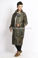 hooded long raincoat for men army poncho raincoat