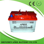 Din standard 12V 74AH dry charged Car Battery Auto Batteries DIN74- 57412