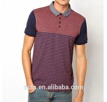 color combination polo shirt in stripe