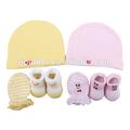 Baby meias hat+mittens+shoes chapéu do bebê recém-nascido baby mittens, baby boné de malha e chapéu