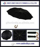 All manual open 2 folding black umbrella, vietnam umbrella