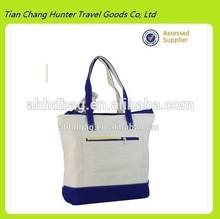handbag fashion handbag tote bag blue color canvas tote bag