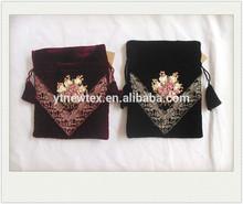 custom velvet drawstring bags from china