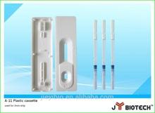 Plastic cassette strip for diagnostic rapid test(hiv hcg maralia test)