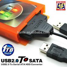 hot sell USB TO SATA hard disk, mobile hard disk box transmission dual drive transmission