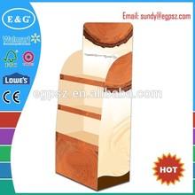 Venda quente cosméticos ondulado pdq / papelão cosméticos indicação do contador