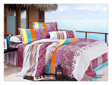 Simple design 115-120GSM microfiber reactive printed bedding luxury brand