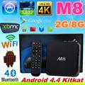 Android KitKat tv-box amlogic m8 s802 Quad-Core 2,0 GHz 2gb 8gb bluetooth 2.4g/5g dua