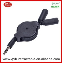 Retractable Mechanism 3.5mm connector speakers cable