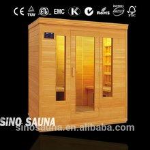 New design 4 person FIR far infrared sauna room with Ceramic Heater