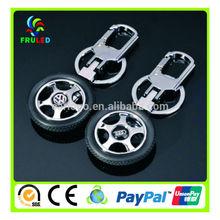 promotional key chain car whell shape key ring promotional keychain
