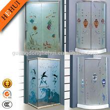 Modern bathroom design sliding hinge door shower enclosure JJB-24 25 26 27 006