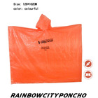 disposable PE cheap raincoat rain cape poncho with logo printing