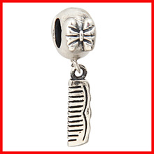 factory stock european charm 925 sterling silver big hole comb charm