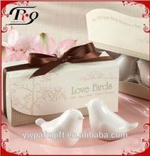 wedding gifts white love birds salt and pepper shaker