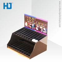 Custom Logo Printed Perforated Display Box , Corrugated Cosmetic PDQ for Eye Shadow