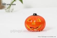 wholesale plastic acrylic Halloween led light artificial pumpkins to decoration