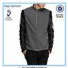 2015 men soft shell coat leather sleeve jacket