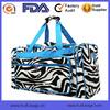 Fabrics Zebra Print Cheer Embroidery 20 inch Duffle Bag Zebra Travel Bag OEM