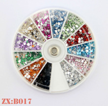 New Arrive Acylic Gel Nails Colorful Rhinestone Nail Art Sticker Jewelry for Manicure