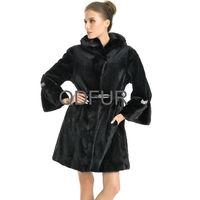 QD70711 High Quality Modern Sheared Velvet Mink Fur Coats Women