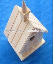 Nueva de madera sin terminar de keychain del birdhouse superior populares en ee.uu. mercado de estilo