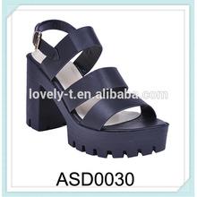 platform chunky wedge heel back buckle chunky heel sandals