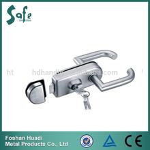 stainless steel glass door lock with keys