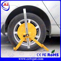 Car anti-theft steering wheel lock,mild steel tyre lock for car and motorcycle ,wheel clamp tire lock