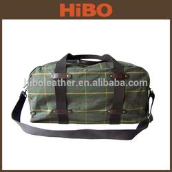 2014 Best Selling Cotton Tartan Fabric hard case travel bag