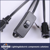 High quality American lamp light cord kit with polarized plug 303 inline switch E12 lamp socket for LED light