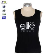 Facotory provide customized silk screen printing embroider pretty high quality Black tshirt for women cotton dark Black tshirt