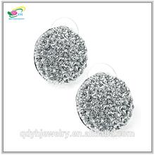 Custom Fashion Wedding Jewelry Wholesale Silver Earrings Balls