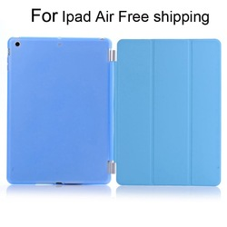 For iPad Air Free Shipping protective shookproof With Many colors PC+Pu leather case with keyboard for 9.7 inch tablet pc