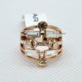 Fino chapado en oro rosa de moda anillo de dedo cristalino de la joyería para mujeres R3024