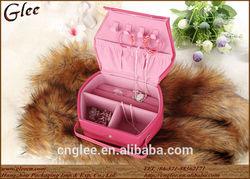Fantasy genuine leather jewelry bag, brithday gift jewelry box