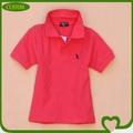 2014 barato de encargo 100% algodón de los cabritos bordado camisa de polo de venta al por mayor de china