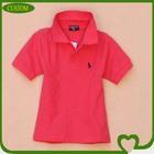 2014 cheap custom 100% cotton kids embroidered polo shirt wholesale china