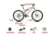fork/headset/hub/pedal axle/bottom bracket/rear bicycle bearing