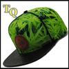 custom leather patch logo snake skin brim sublimation snapback hat cap