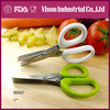 LFGB/FDA 7-1/4 inch 3 blades herb scissors(BD007)