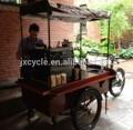 De la calle de tres ruedas móvil de alimentos carros