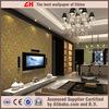 Damask gold wallpaper pvc textured beautiful flower wallpaper