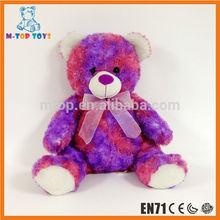 Personalizado atacado handmade colorido urso de pelúcia barato