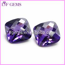 Shining Checker Cut Zircon Gemstone for Jewelry Making